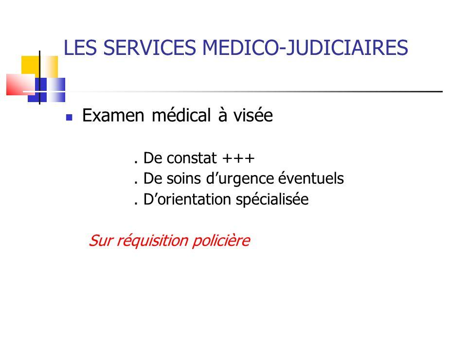 LES SERVICES MEDICO-JUDICIAIRES