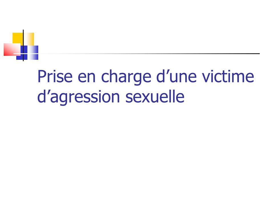 Prise en charge d'une victime d'agression sexuelle