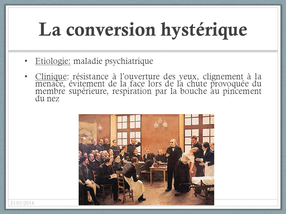 La conversion hystérique