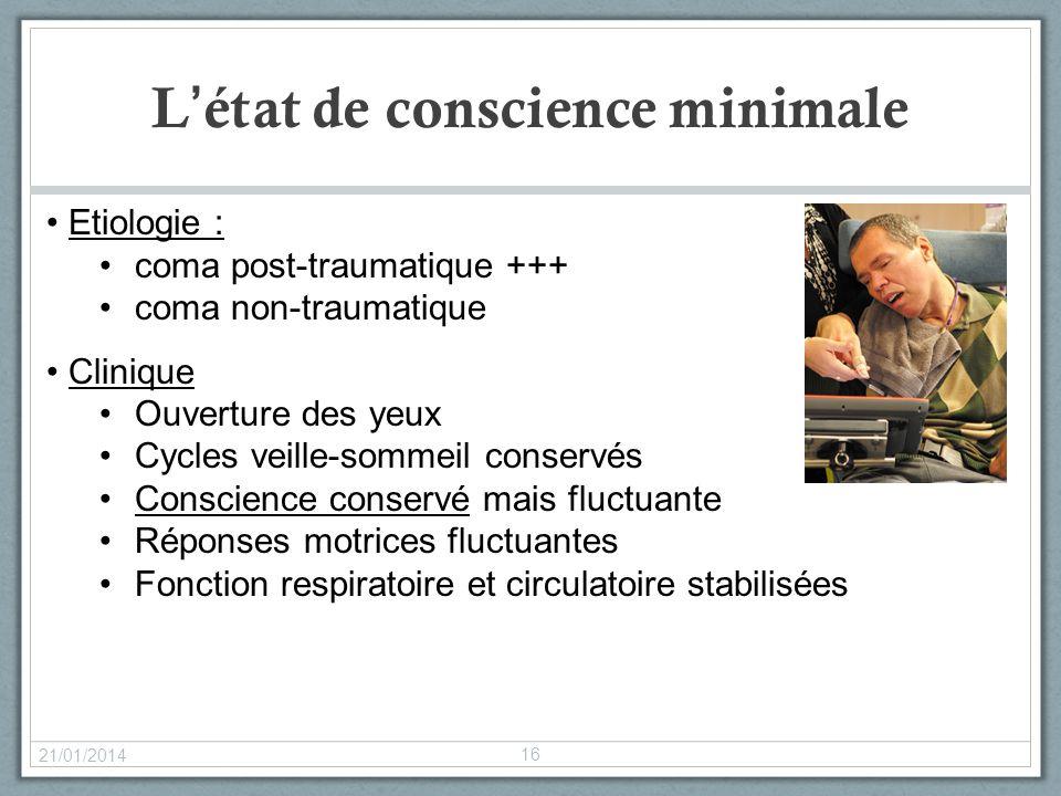 L'état de conscience minimale