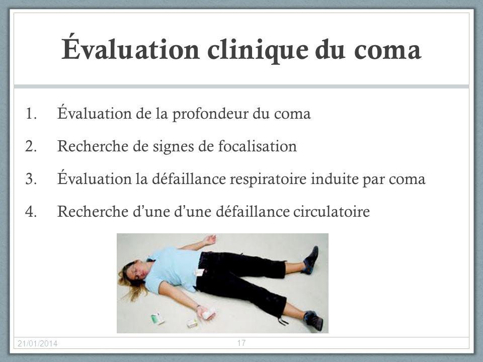 Évaluation clinique du coma