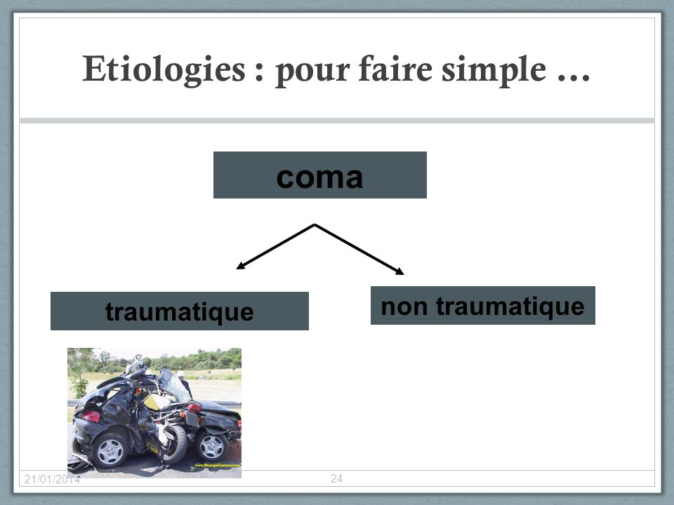 Etiologies : pour faire simple …