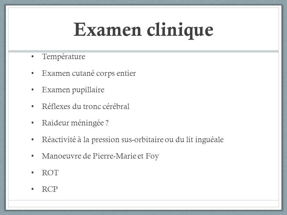 Examen clinique Température Examen cutané corps entier