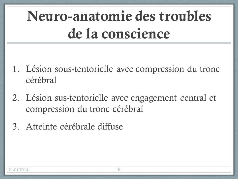 Neuro-anatomie des troubles de la conscience
