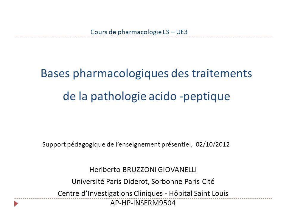 Cours de pharmacologie L3 – UE3