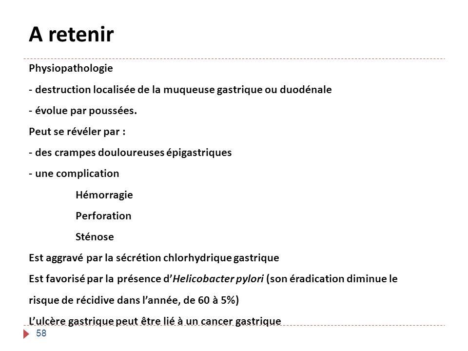 A retenir Physiopathologie
