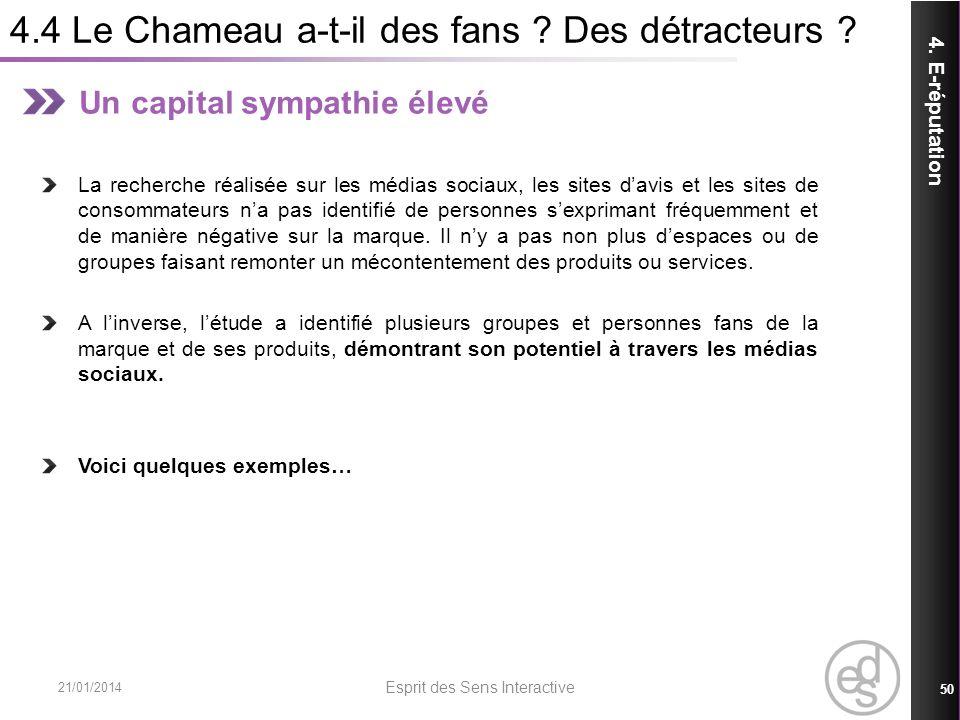4.4 Le Chameau a-t-il des fans Des détracteurs