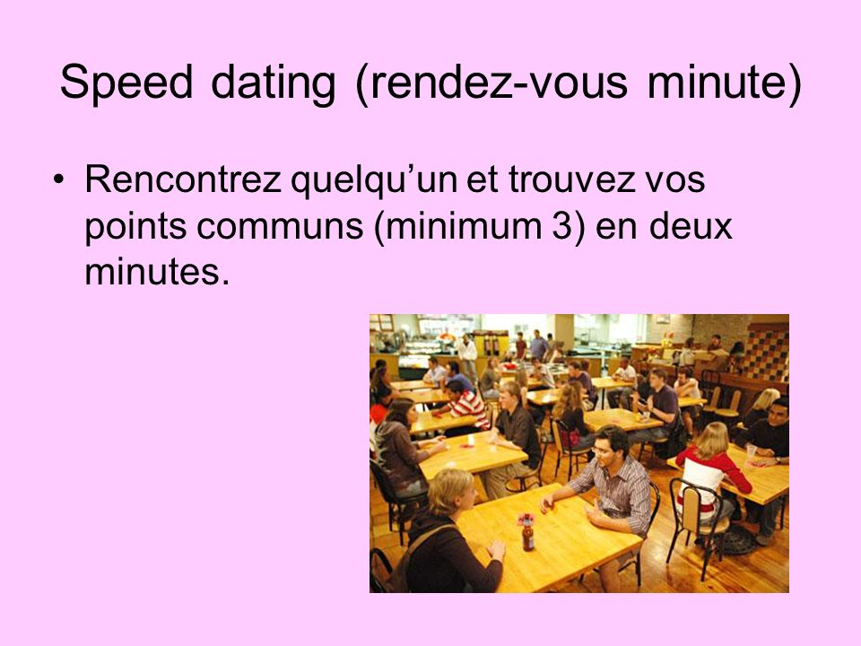 Speed dating (rendez-vous minute)