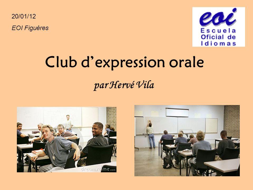 Club d'expression orale