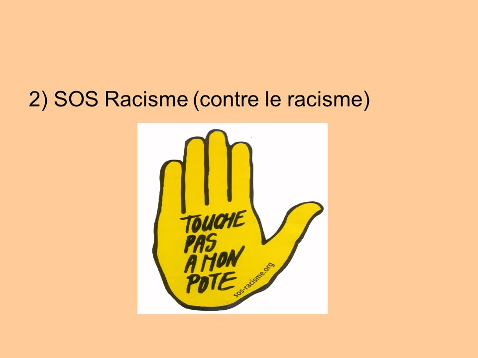 2) SOS Racisme (contre le racisme)