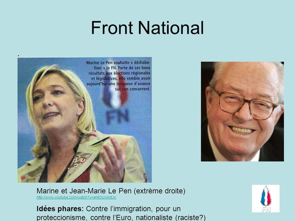 Front National . Marine et Jean-Marie Le Pen (extrème droite) http://www.youtube.com/watch v=eNlOUwhrjUo.