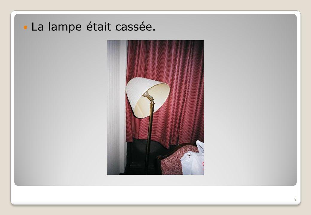 La lampe était cassée.