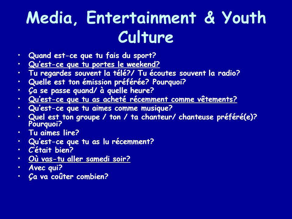 Media, Entertainment & Youth Culture
