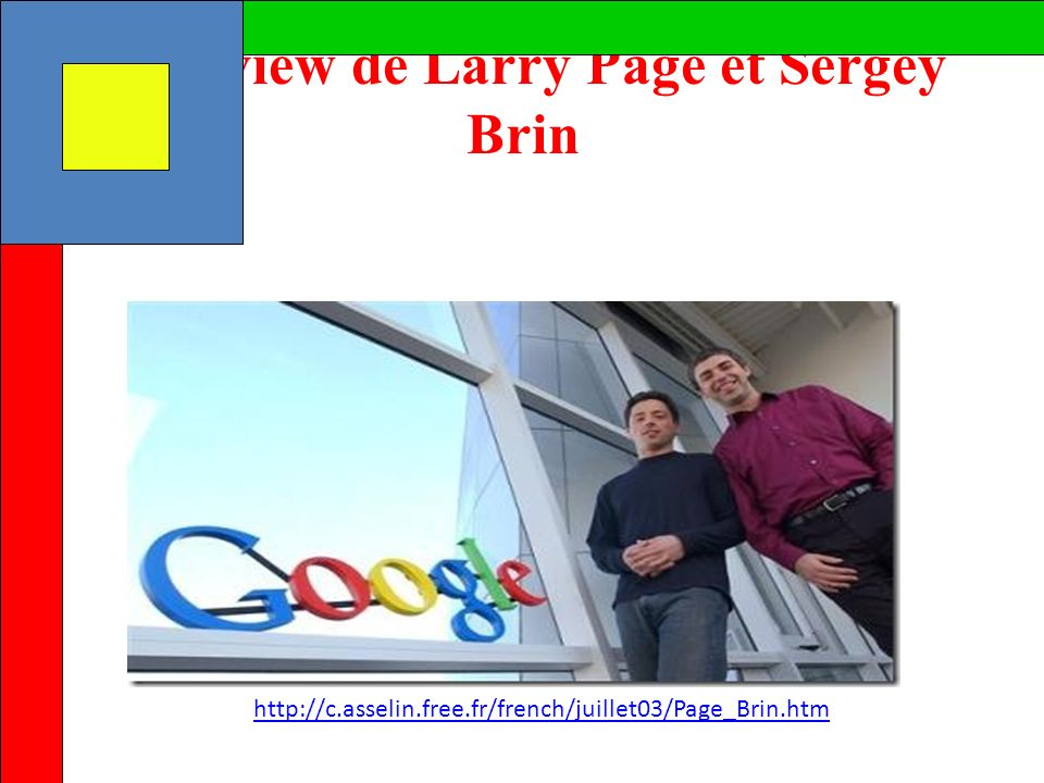 Interview de Larry Page et Sergey Brin