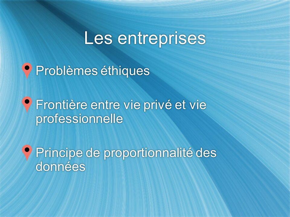 Les entreprises Problèmes éthiques