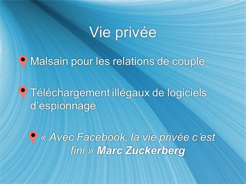 « Avec Facebook, la vie privée c'est fini » Marc Zuckerberg