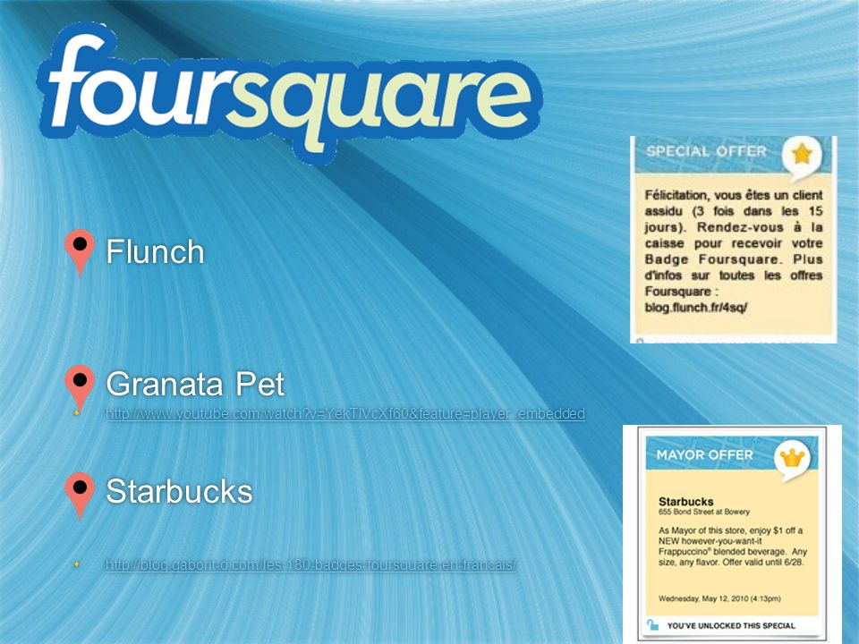 Flunch Granata Pet Starbucks