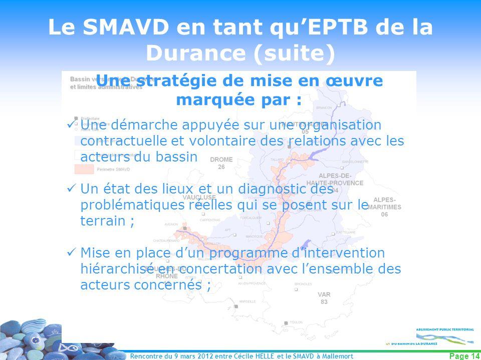 Le SMAVD en tant qu'EPTB de la Durance (suite)