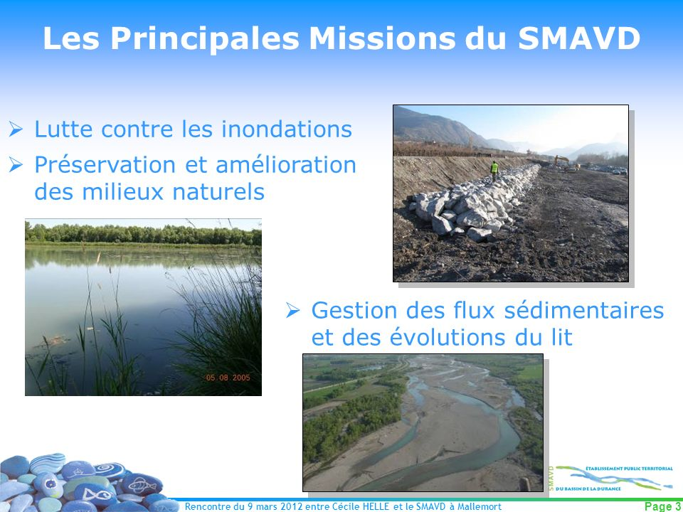 Les Principales Missions du SMAVD