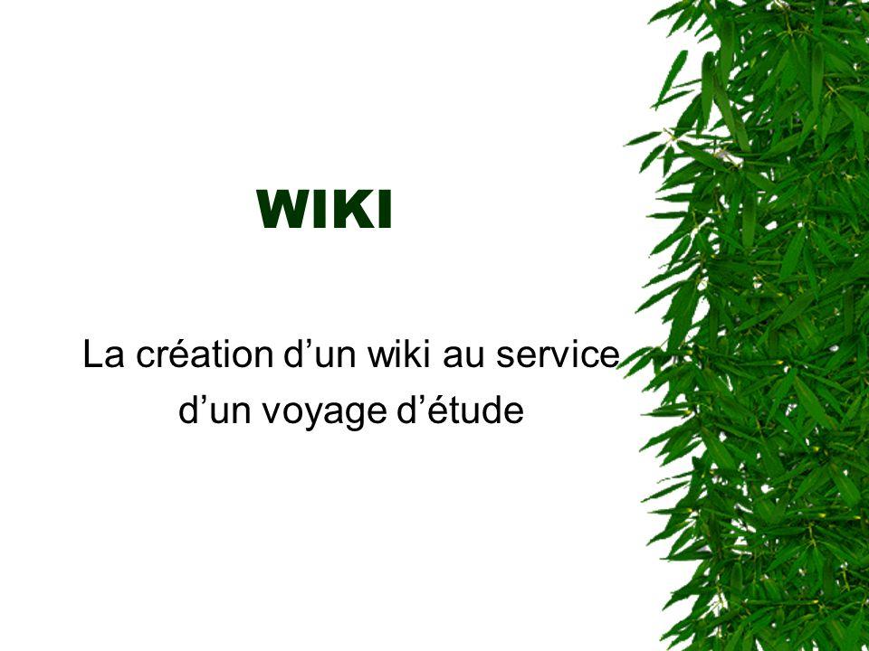 La création d'un wiki au service d'un voyage d'étude