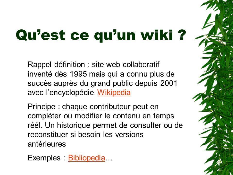 Qu'est ce qu'un wiki