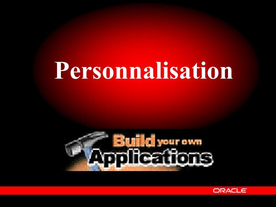 Personnalisation Le quatrième élément d'Oracle Information Architecture est « Personnalisable ».