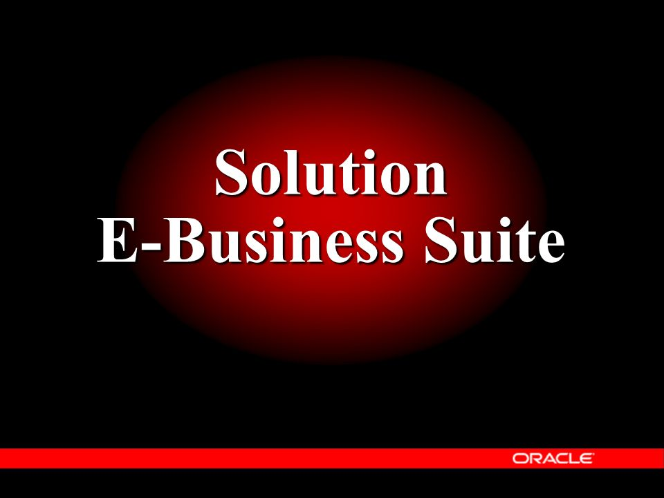 Solution E-Business Suite