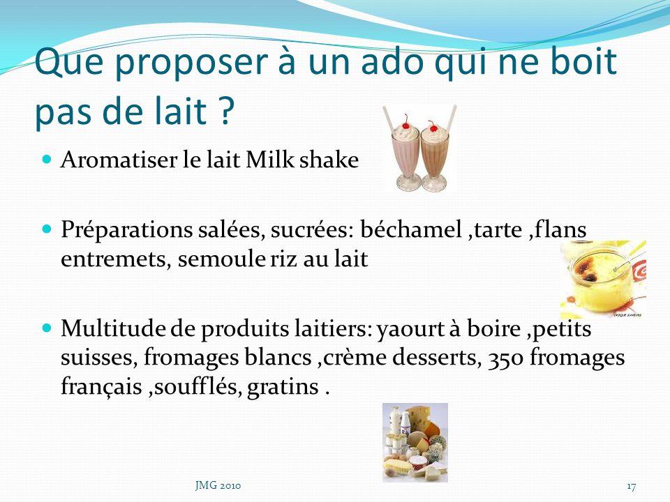 Que proposer à un ado qui ne boit pas de lait