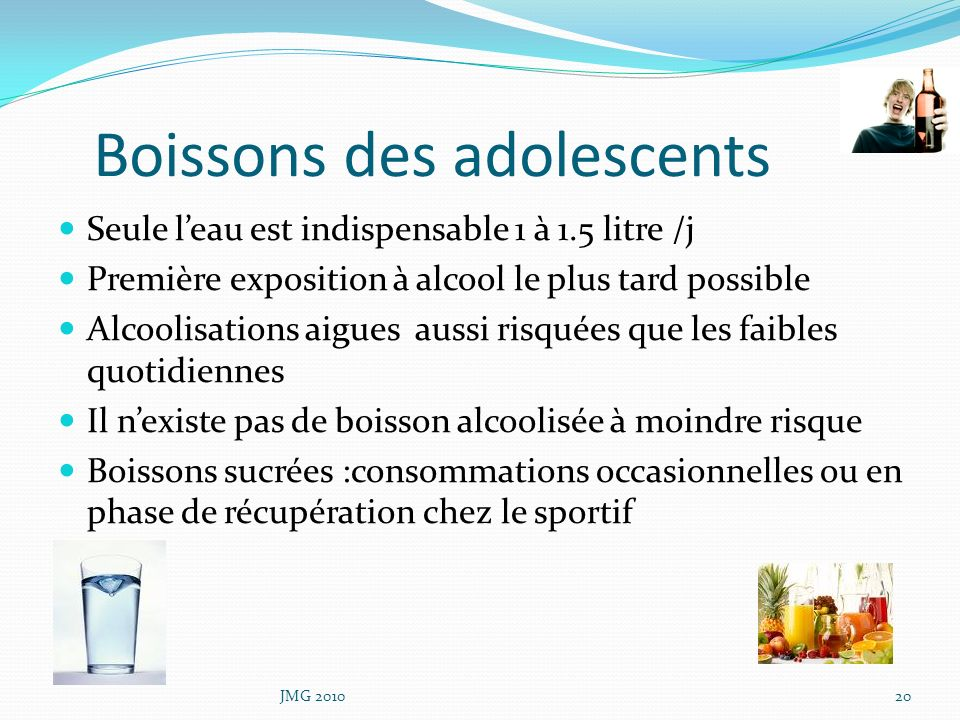 Boissons des adolescents
