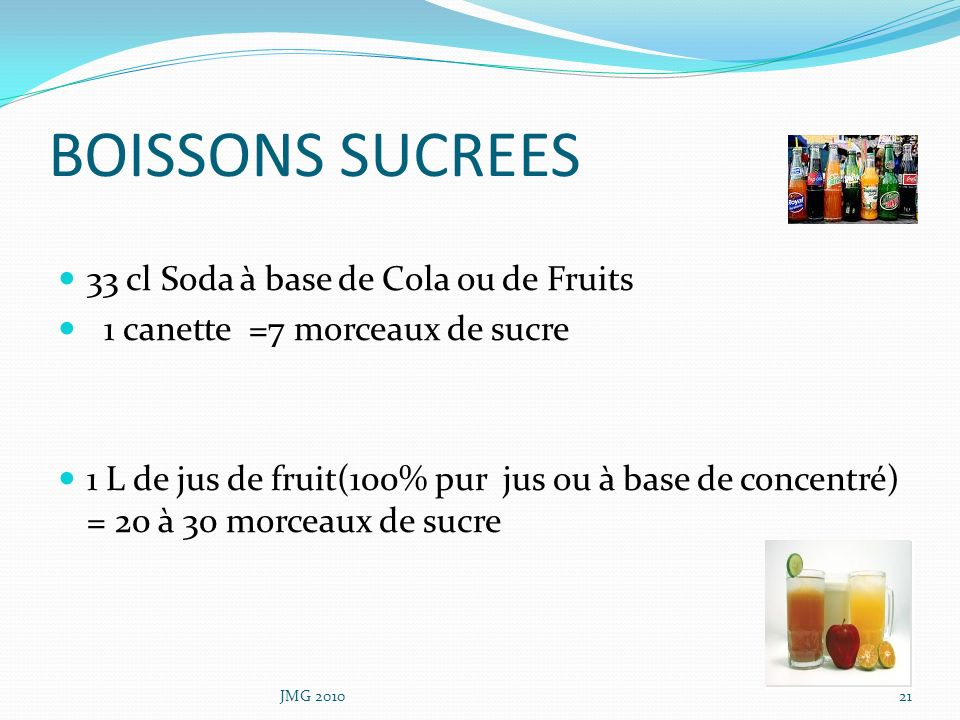 BOISSONS SUCREES 33 cl Soda à base de Cola ou de Fruits