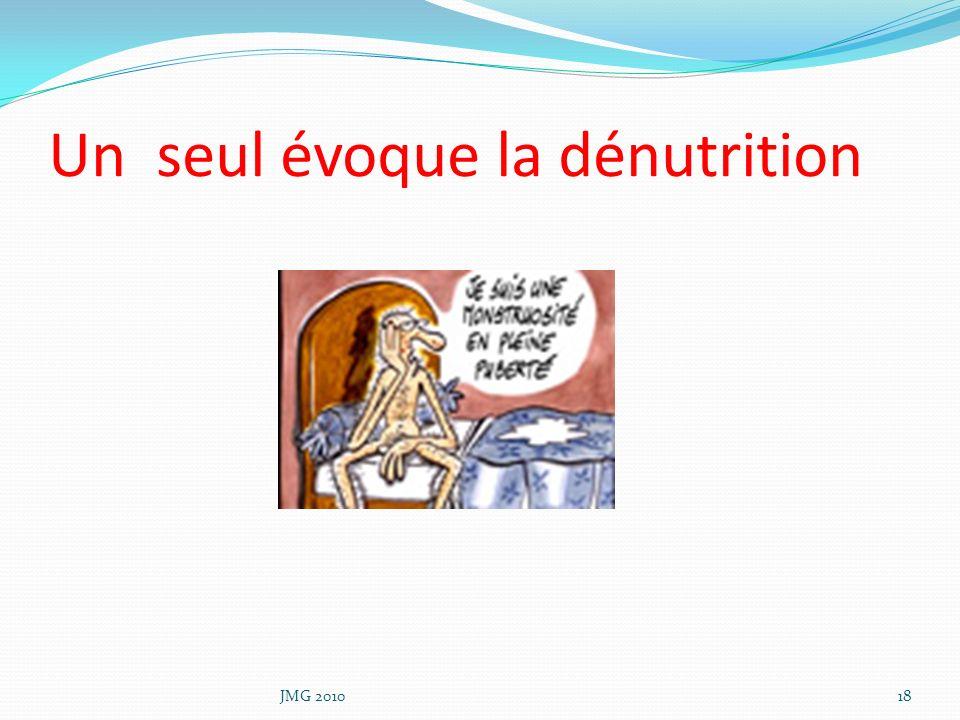 Un seul évoque la dénutrition