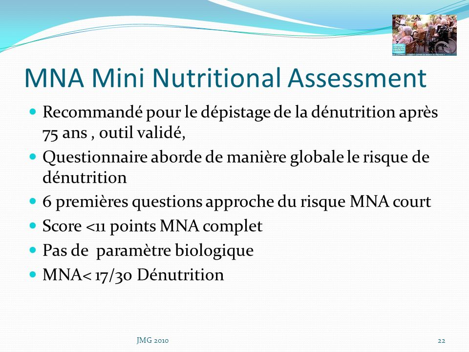 MNA Mini Nutritional Assessment