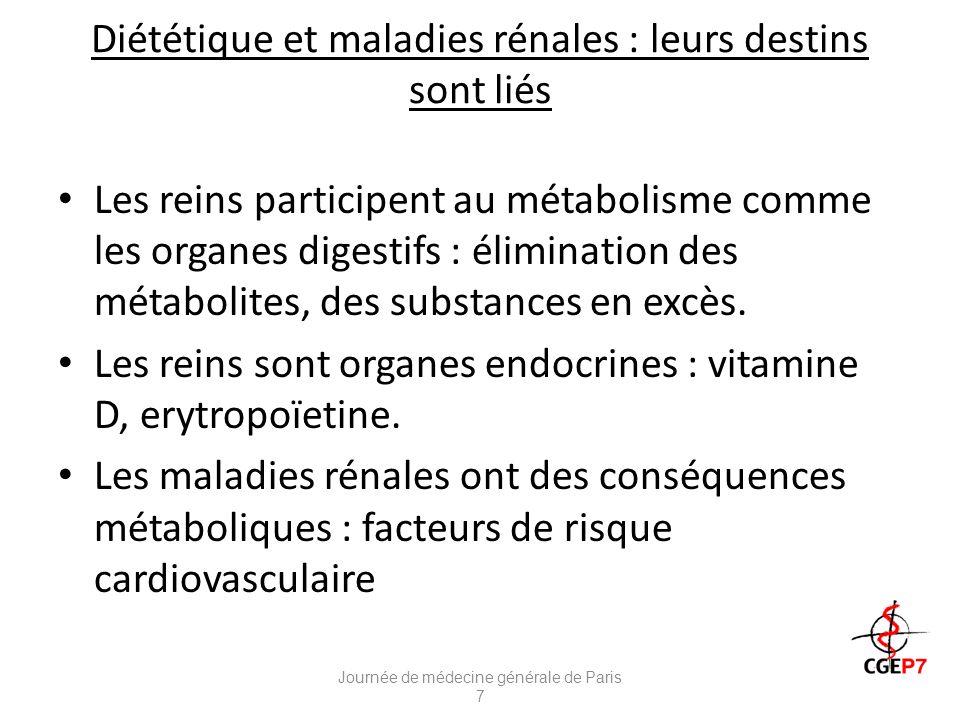 Diététique et maladies rénales : leurs destins sont liés