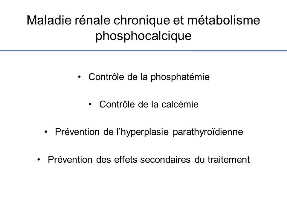Maladie rénale chronique et métabolisme phosphocalcique