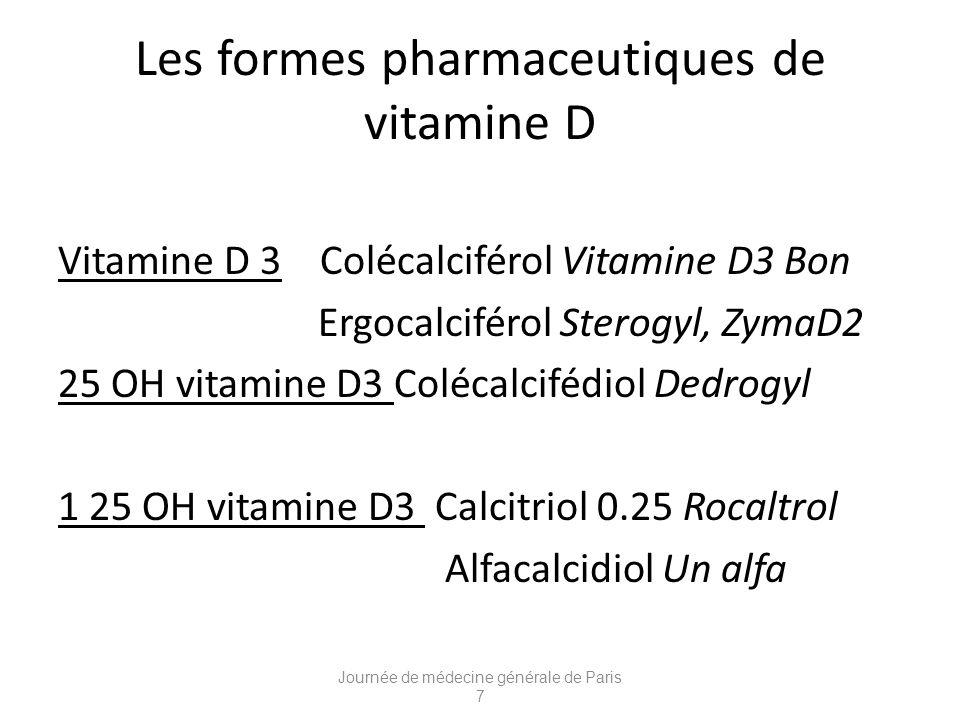 Les formes pharmaceutiques de vitamine D