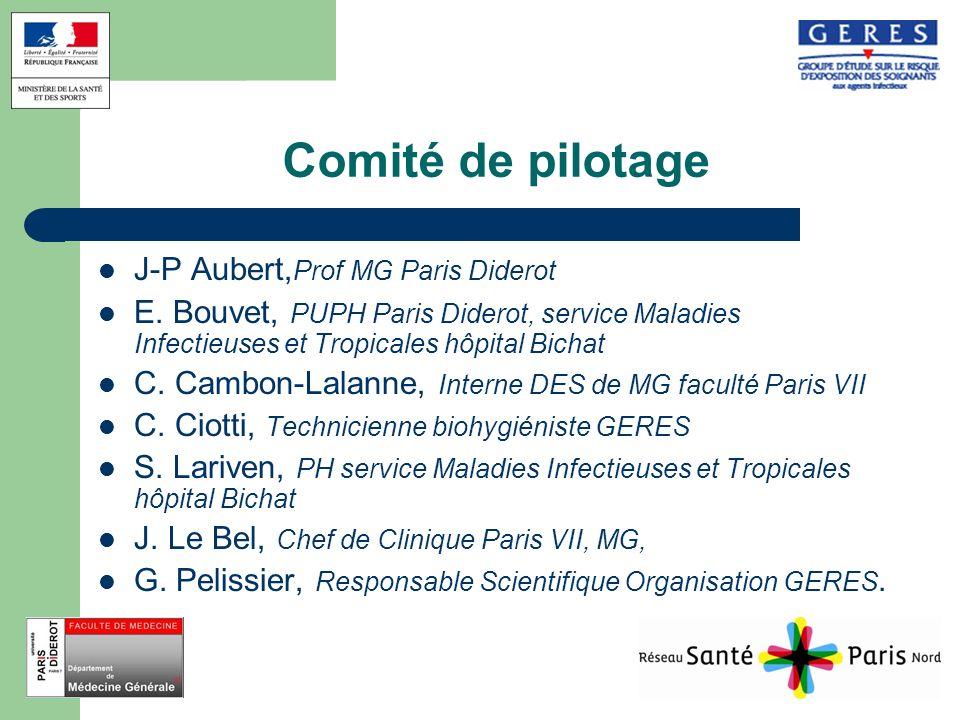 Comité de pilotage J-P Aubert,Prof MG Paris Diderot