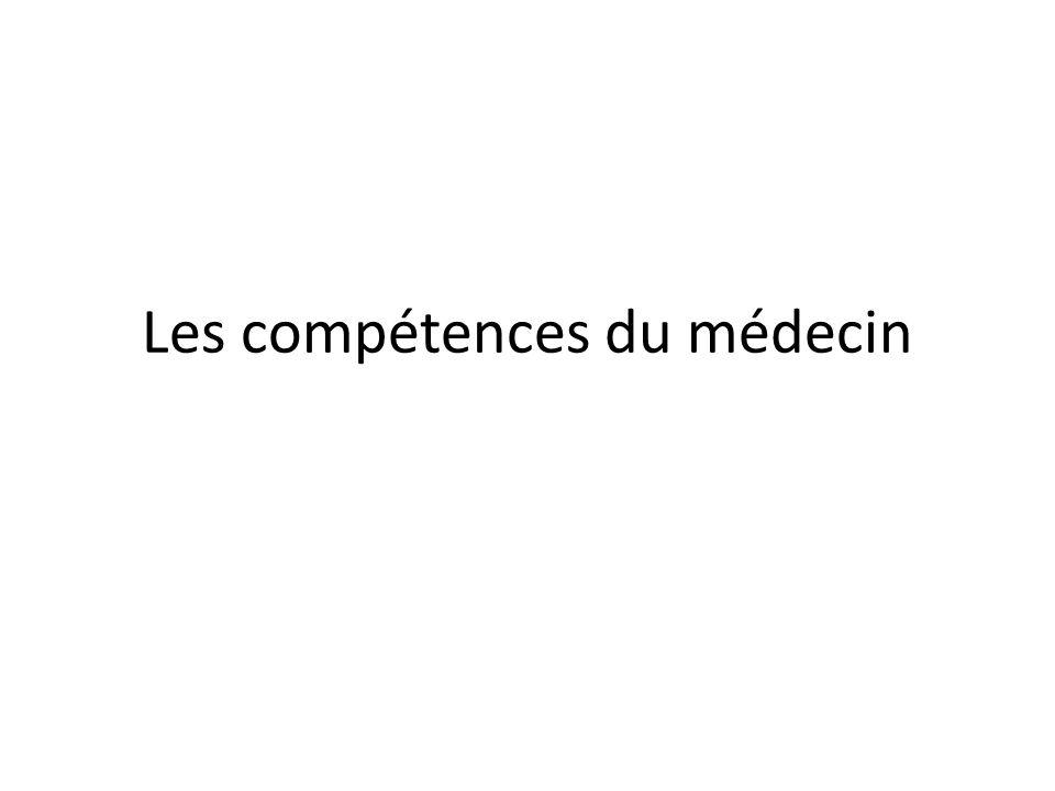 Les compétences du médecin