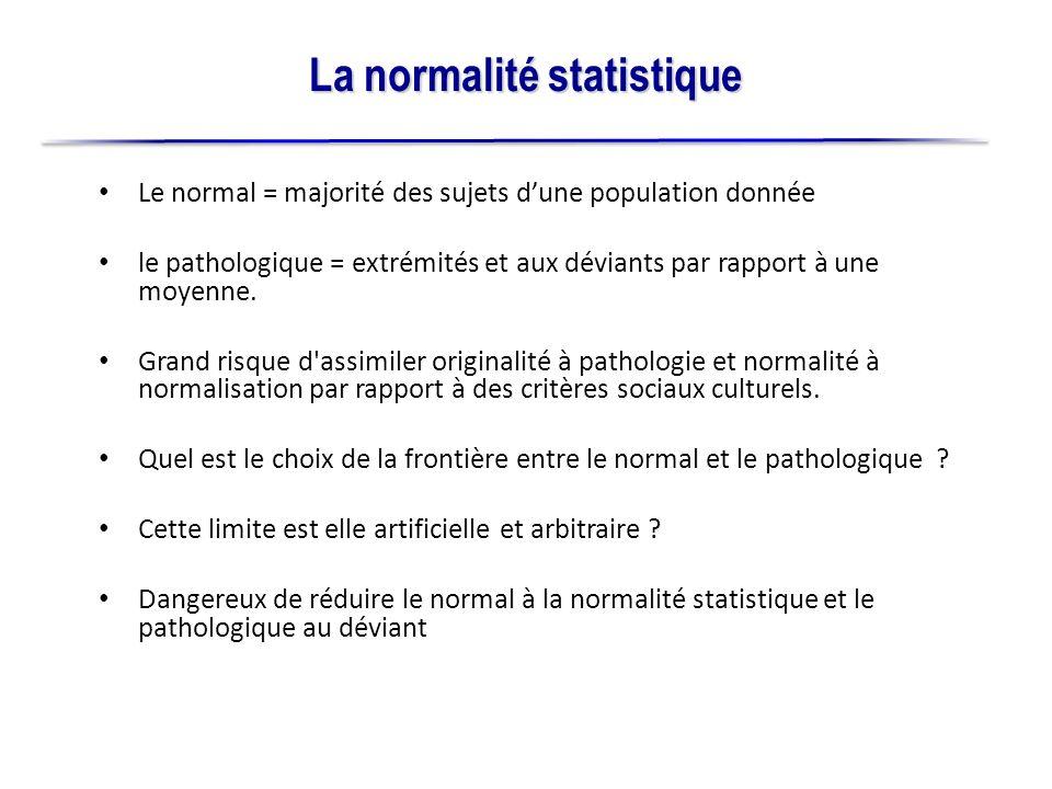 La normalité statistique