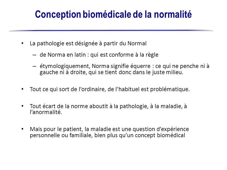 Conception biomédicale de la normalité