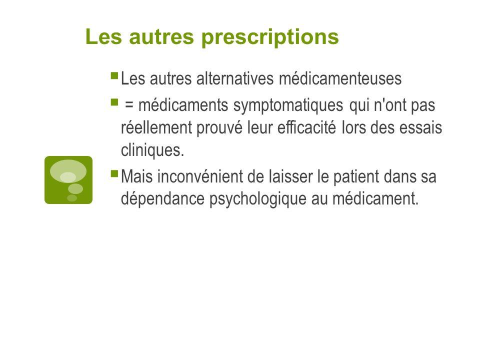 Les autres prescriptions