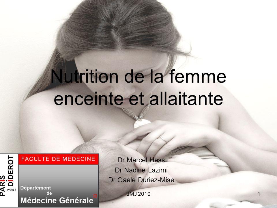 Nutrition de la femme enceinte et allaitante