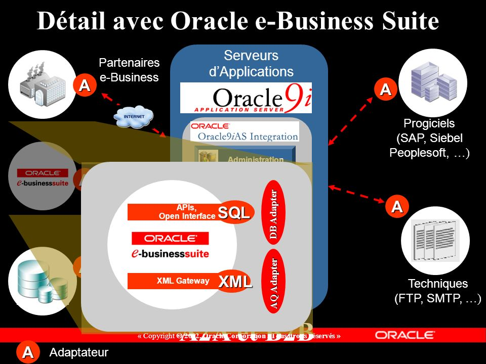 Détail avec Oracle e-Business Suite