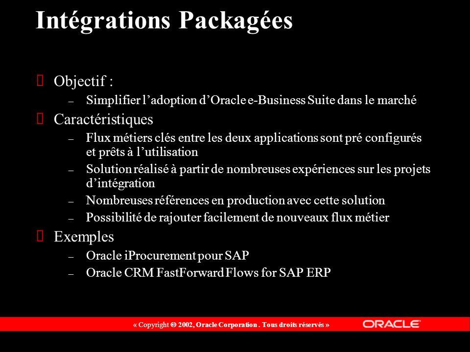 Intégrations Packagées