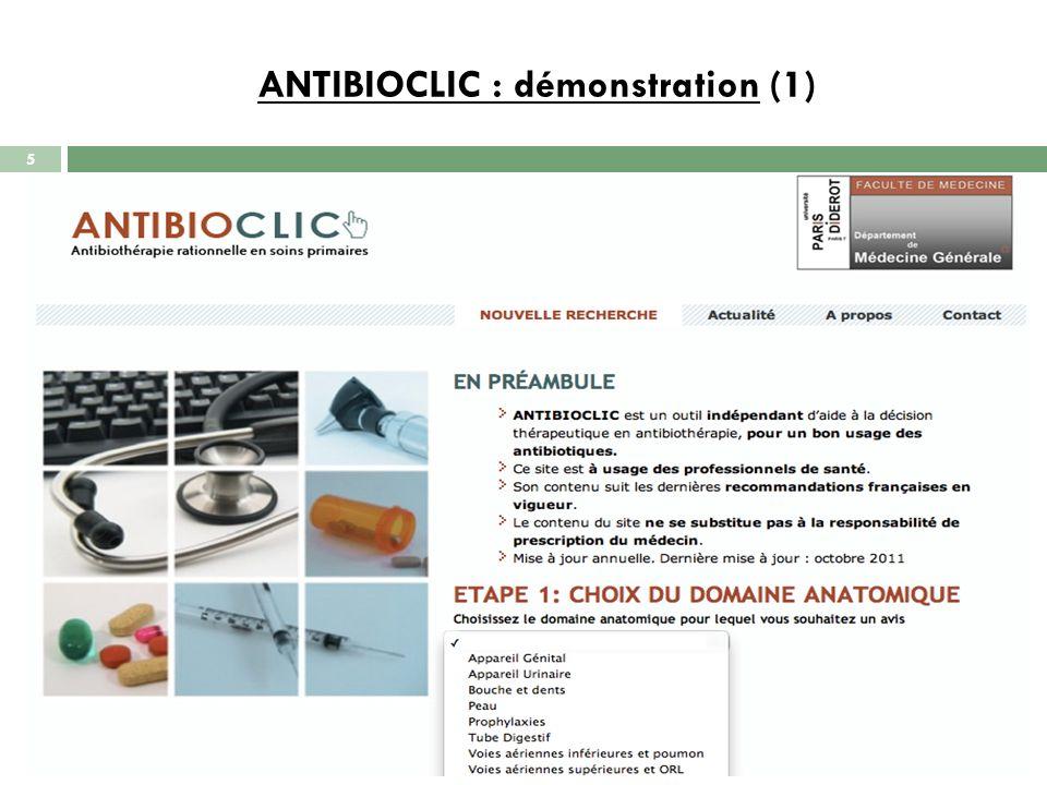 ANTIBIOCLIC : démonstration (1)