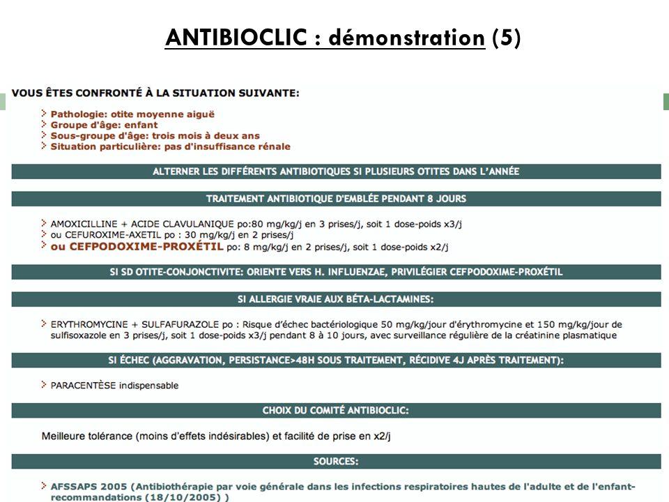 ANTIBIOCLIC : démonstration (5)