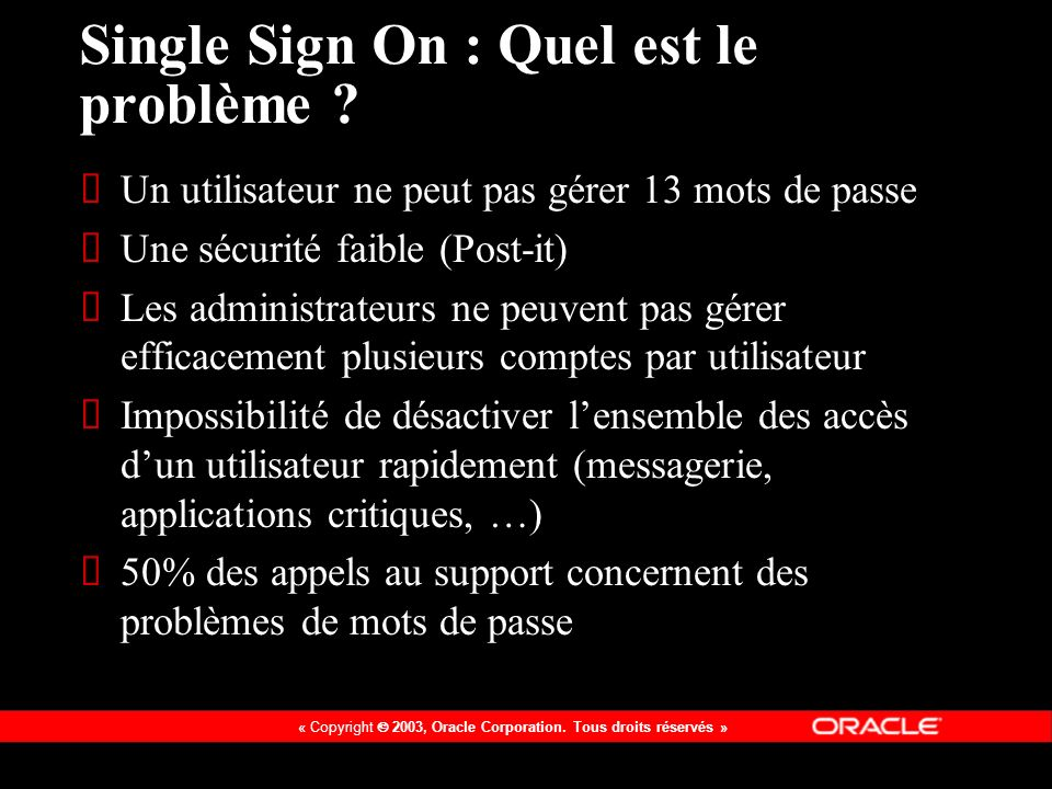 Single Sign On : Quel est le problème