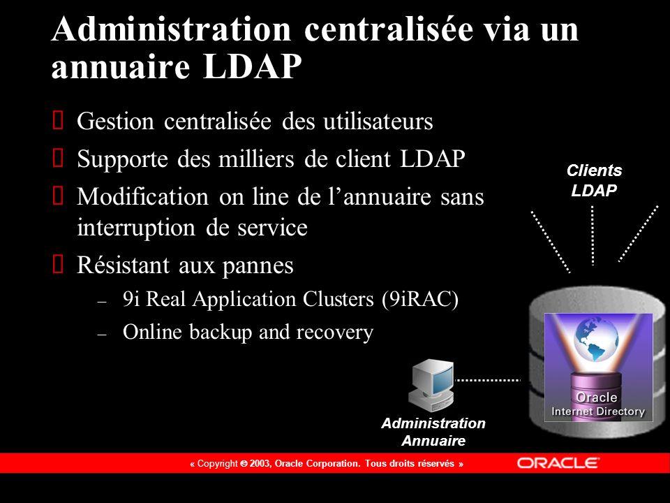Administration centralisée via un annuaire LDAP
