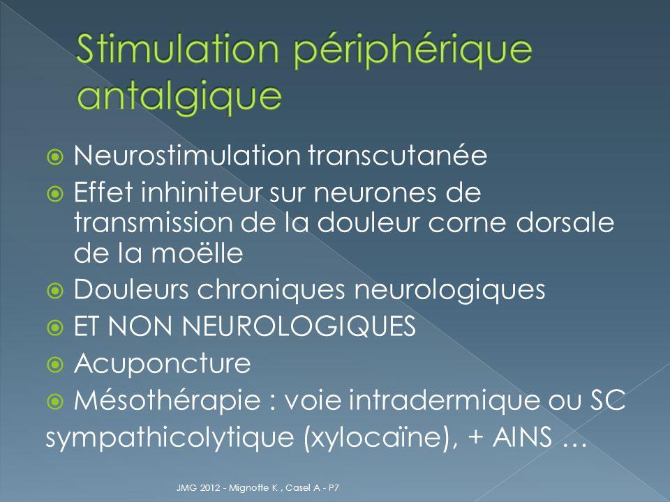 Stimulation périphérique antalgique