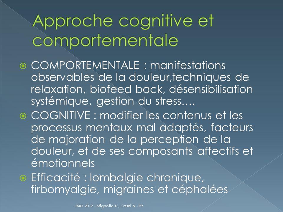 Approche cognitive et comportementale