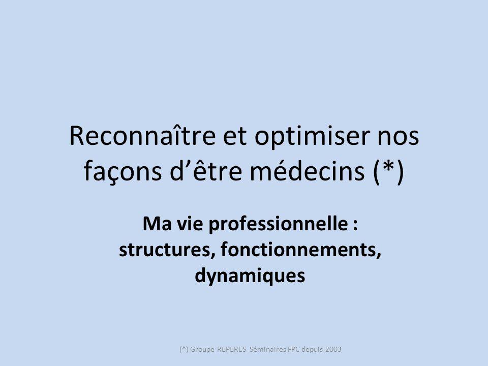 Reconnaître et optimiser nos façons d'être médecins (*)
